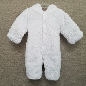White Lamb Hoodie One-Piece from Spunky Kids